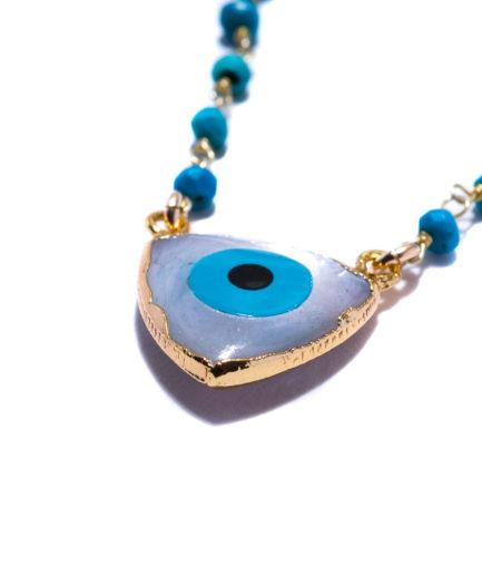 joaparis,joa,collier,aiyana,turquoise,oeil,nacre,talisman,portebonheur,pierresfines,pierresnaturelles,bijoux,eshop,paris,parisienne,faitmain,fabriqueenfrance