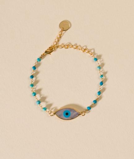 joaparis,joa,bracelet,aiyana,turquoise,oeil,nacre,talisman,portebonheur,pierresfines,pierresnaturelles,bijoux,eshop,paris,parisienne,faitmain,fabriqueenfrance